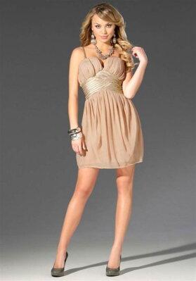 4506f311d93 Hedvábné korzetové šaty LIPSY v tělové barvě