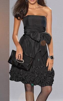 Luxusní korzetové večerní společenské šaty APART Impressions v černé barvě  z elegantního lesklého taftu 14c5eb7eb4