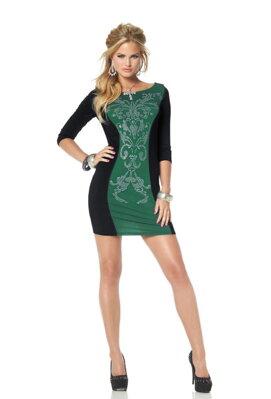 MELROSE dámske úzke šaty so skrátenými rukávmi 92c3e3393b3