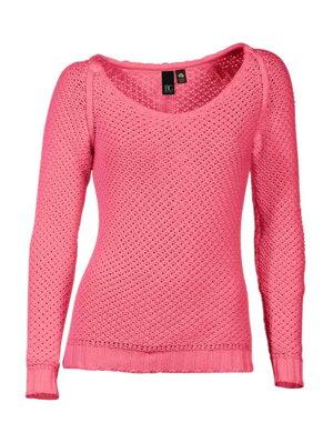 b96ab309b8db HEINE dámsky ružový sveter so vzorom