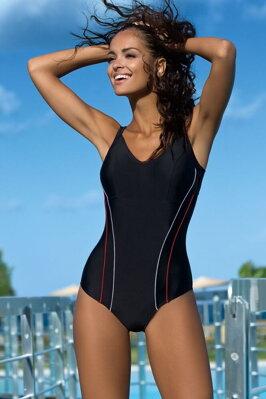 e51b2b9e03b Jednodílné sportovní plavky Julie černé