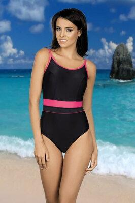 e4d29d551e5 Jednodílné sportovní plavky Delfina šedokorálové